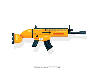 How to Draw the SCAR Rifle how to draw team weapon machine assault scar rifle fortnite