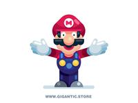 Flat Design Super Mario