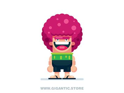 Flat Design Cartoon Character animation game design room flat design person grandpa characters character cartoon