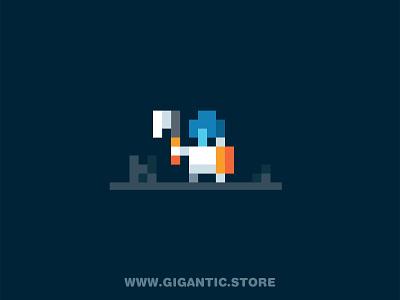 Pixel Art 2D Game Design Character mobile game arcade warrior character game design pixels art pixel pixel art