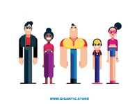 Flat Design Characters 2