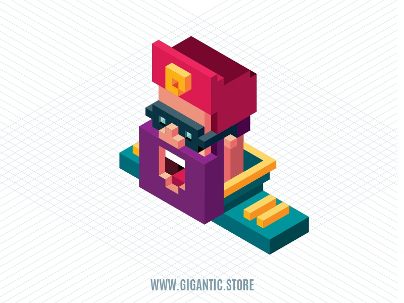 Isometric Character Illustration in Adobe Illustrator by