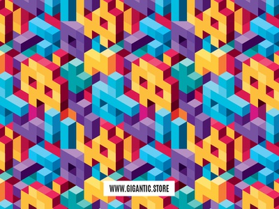 Isometric Vector Background Seamless Pattern illustrator 3d artist 3d art flat  design graphic  design graphic artist graphic art graphic pattern design pattern background pattern background design background image background back isometric illustration isometric mockup isometric design isometric icons isometric