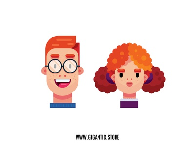Flat Design Characters, Boy and Girl Illustration vector animation vector artwork vector art vector artist art digitalillustration digital 2d illustration digital illustration design illustration character designer character designs character design character animation character creation character concept character art character flat design