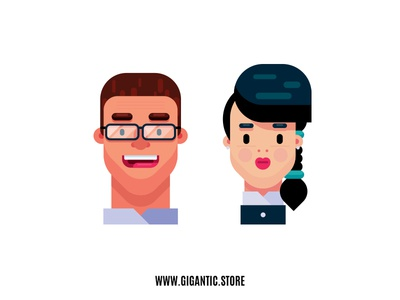 Flat Design Characters, Man and Woman Illustration vector artwork vector art vector illustrator art illustrator cc illustrator illustration flat design digital illustration digital 2d character designs character designer character creation character concept character character design character art character animation artist art