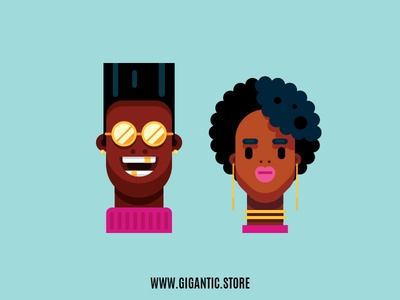 Flat Design Portraits, Man and Woman Illustration animation animation after effects animation design animation 2d animated animate charactedesign character animation character creation character art character digital agency digital art illustration challenge illustration design illustration agency illustration art illustration graphic art