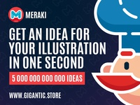 Get inspiration and idea for your illustration art in one sec.