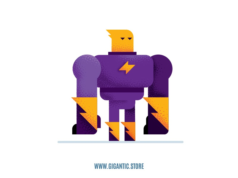 Flat Design Character Illustration and Noise Brushes by