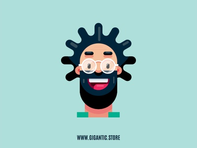 Flat Design Character, Man Portrait Illustration people draw animation art characters vector art illustrator vector gigantic drawing character design game design person cartoon flat man design illustration flat design character