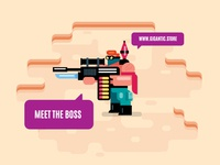 Boss form Flat Game Design
