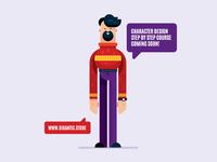 Character Design Illustration, Flat Design