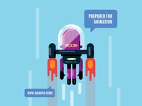 Flat Design Character in the Space