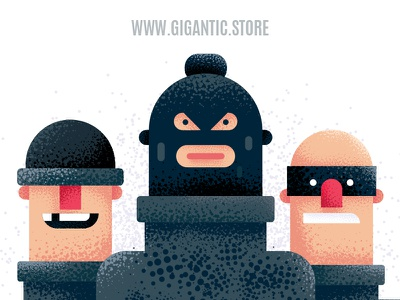 Flat Design Characters Illustration in Adobe Illustrator CC 2019 texture noise people art vector art characters illustrator draw vector gigantic character design person drawing cartoon flat man design illustration flat design character