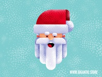 Flat Design Santa Claus Character Illustration