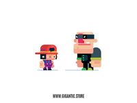 Flat Design Game Character in Adobe Illustrator cc 2019