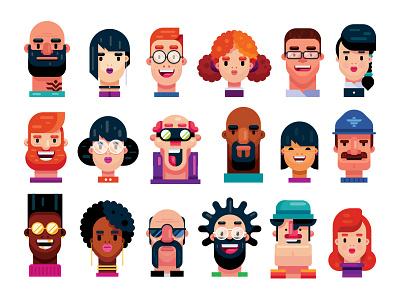 20 Premium Flat Design Characters animation branding draw vector people art vector art characters illustrator gigantic person character design drawing cartoon flat man design illustration flat design character
