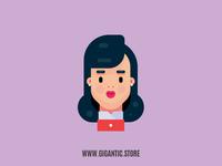 Female Flat Design Character Illustration