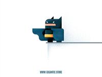 Flat Design Batman Illustration in Adobe Illustrator