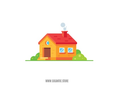 Flat Design House Illustration in Adobe Illustrator illustrator art illustrator cc illustrator vector art vector cartoon flat design illustration building house illustration house icon house