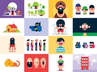 24 Top Flat Design Illustrations - Download Vectors
