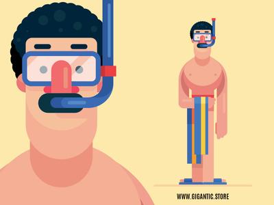 Flat Design Summer Character Illustration in Adobe Illustrator