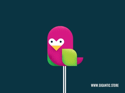 Flat Design Bird Character Illustration In Adobe Illustrator CC