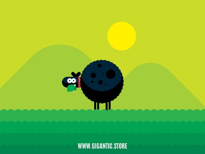 Flat Design Sheep Character Illustration In Adobe Illustrator