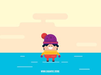 Flat Design Character Illustration in Adobe Illustrator