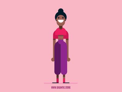 Flat Design Female Character Illustrations in Adobe Illustrator