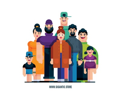 Flat Design Characters Illustration In Adobe Illustrator CC animation people art draw characters vector art gigantic illustrator game design character design vector person man drawing flat cartoon design illustration flat design character