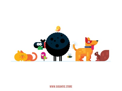 Flat Design Animals Illustration In Adobe Illustrator game design character design vector drawing cartoon design illustration animal art animal animals flat design character