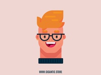 Flat Design Character Digital Illustration