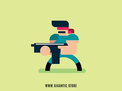 Video Game Character Design Art In Adobe Illustration