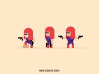 Female Girl Game Design Digital Illustration Character