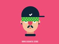 Flat Design Digital Illustration Portrait Character