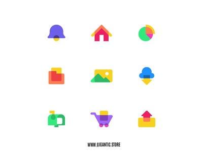 Flat Design Flat Design Colorful Icons Set Illustration graphicdesign graphic design graphic illustration illustrator ui design uidesign uiux ux ui logo design logodesign logotype logos logo icon design iconography icon set icons icon