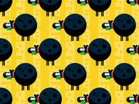 Flat design sheep seamless pattern background illustration