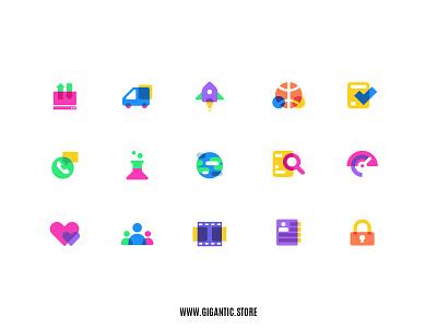 Flat Design Colorful Icons Set Illustration, Web Design, UI, UX symbol website design webdesign web design web website ux  ui uiux uxui ui ux infographics infographic info logo icon design iconography icon set icons icon