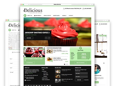 Delicious - Food and Drinks Template webdesign responsive joomla theme