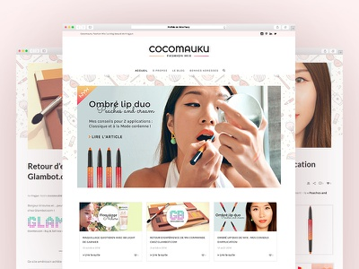 Création du blog Beauté ux ui website webdesign cosmetics beaury blog