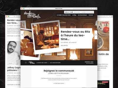 Le rendez-vous des Chefs media social network community blog food lifestyle chief gastronomy culinary