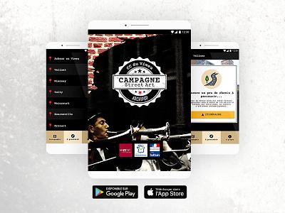 Campagne Street Art hauts-de-france google maps native responsive hybrid ux ui ionic ios android app