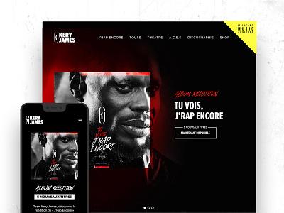 Kery James frenchrap keryjames pwa responsive webdesign uxdesigner webartist rap hiphop