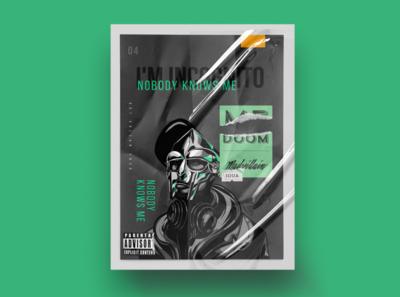 MF DOOM ~ Fan Art composition graphic design graphicdesign print photoshop layout mfdoom hiphop fanart poster design illustration poster
