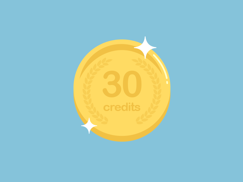 Credits Coin illustration coin credits points flat mobile app ios android ui