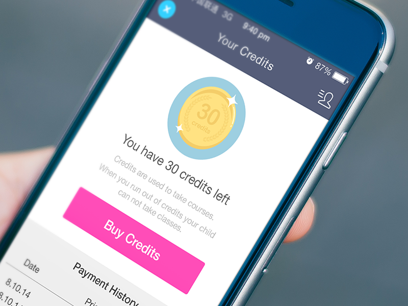 Your Credits icon illustration points credits mobile app ios android ui ux flat