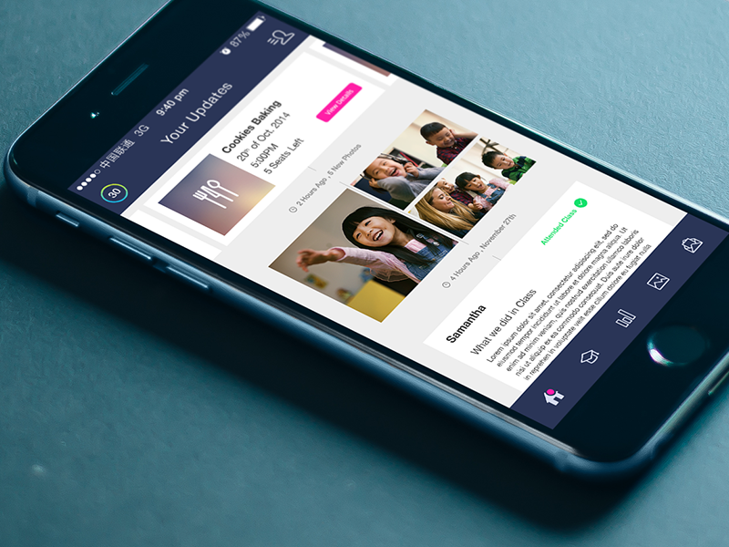 News Feed / Timeline mobile app ios iphone ux ui design interactive web product design news feed timeline