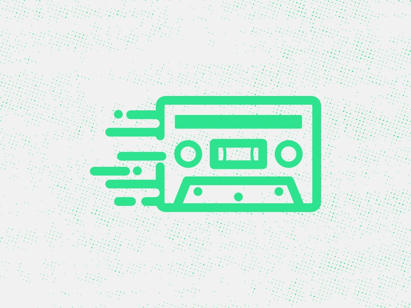 Lé Cassette icons music app notifications ios eleven vector outline email