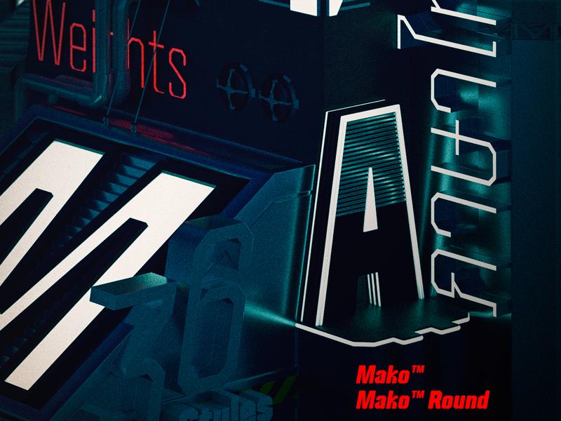 Mako™ font poster thai graphic 3d font