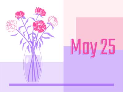 Peonies 🌸 peonies flowers 25 pink purple peony may